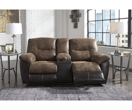 DBL REC LOVESEAT W/CONSOLE FOLLETT SIGNATURE