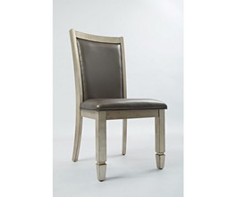 UPHOLSTERED  DINING CHAIR W/PATTERN BACK 2/CTN