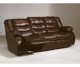 D RECLINING SOFA-MOTION LEATHER-REVOLUTION - SADDLE
