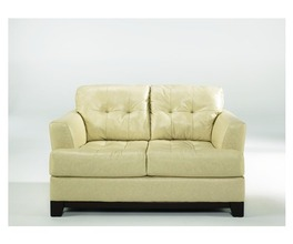 LOVESEAT-STATIONARY LEATHER-MARTIN - OYSTER