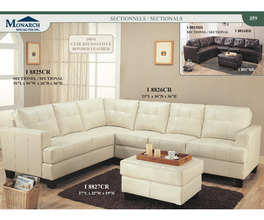 CREAM  ALL BONDED LEATHER  SECTIONAL   PG359