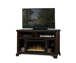 BROOKINGS ESPRESSO ESPRESSO(DFG2562) MEDIA CONSOLE WITH 25 LANDSCAPE FB WITH GLASS EMBER BED. SHIPS IN TWO BOXES.