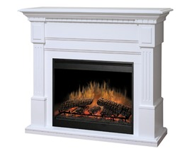 ESSEX WHITE FINISH MANTEL WITH A 30 FIREBOX. SHIPS IN TWO BOXES.