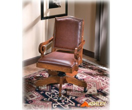 UPHOLSTERED ARM CHAIR (BROWN)