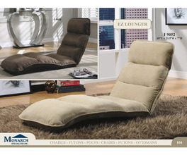 BROWN MICRO-FIBRE  EZ LOUNGER  CLICK CLACK CHAIR   PG104