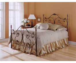 AYNSLEY BED MAJESTIQUE TWIN BED COMPLETE W FRAME