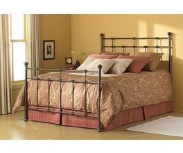 DEXTER BED HAMMERED BROWN TWIN BED COMPLETE W/ FRAME