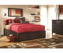GRAYSON PLATFORM BED DARK CHOCOLATE TWIN