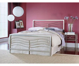 MALIBU BED ICED SILVER TWIN BED COMPLETE W FRAME