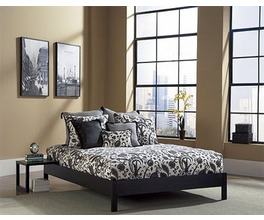 MURRAY PLATFORM BED BLACK TWIN