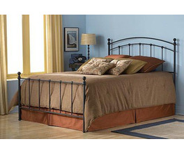 SANFORD BED MATTE BLACK TWIN BED COMPLETE W FRAME