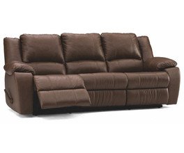 DELANEY SOFA RECLINER*LTHR-0