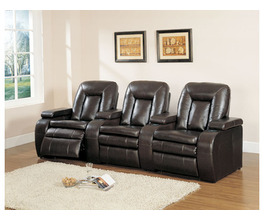 LEATHER ARMLESS CHAIR WITH MOTOR&CONSOLE