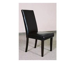 SOPHIE BLACK LEATHER PARSON CHAIR