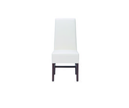 HABITAT DINING CHAIR - IVORY LEATHER