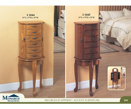 OAK JEWELERY ARMOIRE   PG260