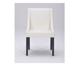 LUCILLE DINING CHAIR - IVORY LEATHER