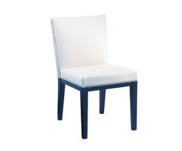 VINTAGE DINING CHAIR - CREAM LEATHER