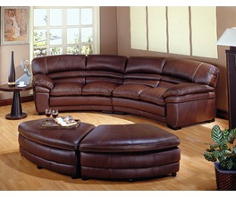 CAPELLA SECTIONAL LHF SOFA  100% LEATHER COLOUR AS SHOWN