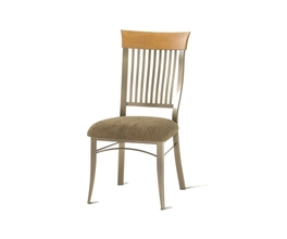 ANNABELLE CHAIR  (UPHOLSTERED SEAT AND  SOLID WOOD ACCENT)
