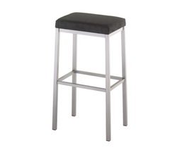 BRADLEY NON SWIVEL STOOL  (DISTRESSED SOLID WOOD SEAT)