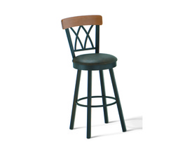 BRITTANY SWIVEL STOOL  (SOLID WOOD ACCENT)