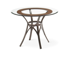 KAI TABLE BASE  (SOLID WOOD ACCENT)