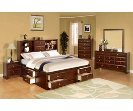 KING STORAGE HEADBOARD MERLOT