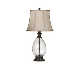 GLASS TABLE LAMP (2/CN) OLIVIA SIGNATURE