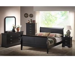 KING SLEIGH HEADBOARD & FOOTBOARD