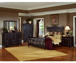 LANSING BLK WITH CHERRY TOP ARMOIRE