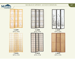 NATURAL WOOD 3 PANEL FOLDING SCREEN   PG247