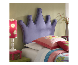 PRINCESS CROWN TWIN SIZE HEADBOARD
