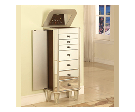 MIRRORED JEWELRY ARMOIRE