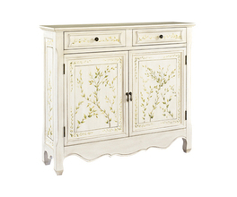 WHITE HANDPAINTED CONSOLE