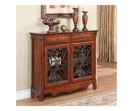 2-DOOR METAL SCROLL CONSOLE