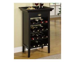 BLACK & MERLOT WINE CABINET