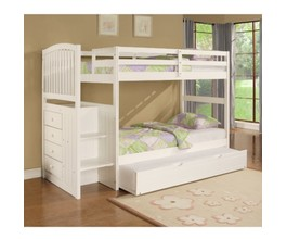 ANGELICA WHITE TWIN TRUNDLE