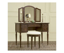 WARM CHERRY VANITY & BENCH