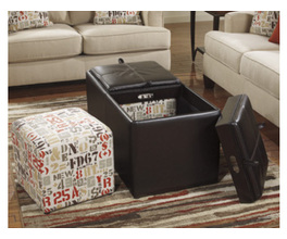 OTTOMAN WITH STORAGE DESHAN ACCENTS SIGNATURE