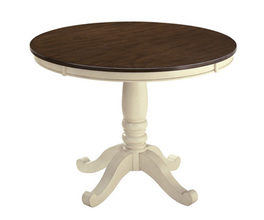 ROUND DINING ROOM TABLE TOP WHITESBURG SIGNATURE