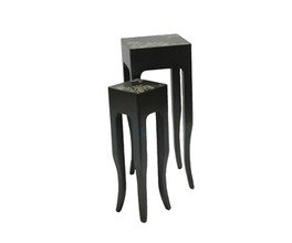PLANT STAND ANT.GREY/SILVER
