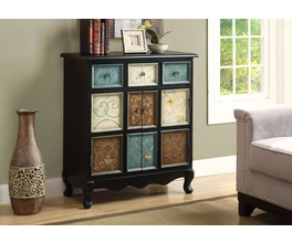 ACCENT CHEST - BLACK / MULTI-COLOR APOTHECARY STYLE