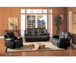 RECLINER LOVESEAT LEATHER/PVC