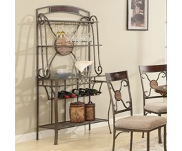 BUFFET AND HUTCH, WINE RACK, FINISH: METAL