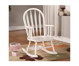 ROCKING CHAIR - 28H / WHITE JUVENILE ARROW BACK STYLE