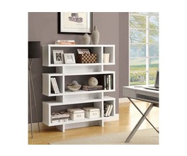 BOOKCASE - 55H / WHITE MODERN STYLE