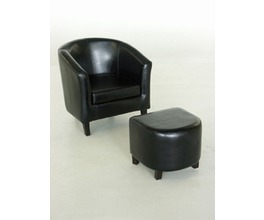 TUB CHAIR AND OTTO DARK CHOCOLATE