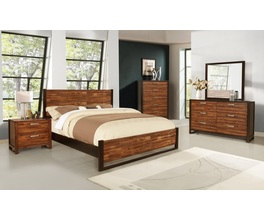 KING HEADBOARD & FOOTBOARD W/SLATS
