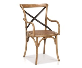 SC93 REVA CROSS BACK ARM CHAIR